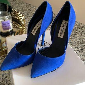 Steve Madden Blue Suede Heels